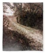 Sunlit Pathway Fleece Blanket