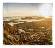 Sunlit Seaside Fleece Blanket