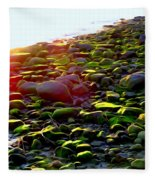 Sunlit Stones Fleece Blanket