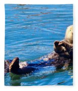 Sunning Otter Fleece Blanket