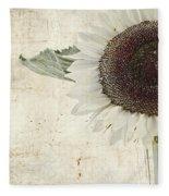 Sunny Albino Sunflower Fleece Blanket