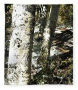 Sunny Aspen Shadows Fleece Blanket