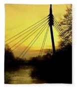 Sunny Bridge Fleece Blanket