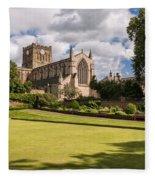 Sunny Day At Hexham Abbey Fleece Blanket