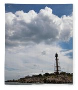 Sunny Day At Marblehead Lighthouse Fleece Blanket