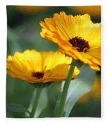 Sunny Day Flowers Fleece Blanket