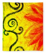 Sunny Day Red Fleece Blanket