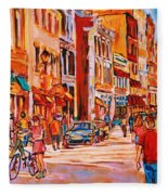 Sunny Downtown  Fleece Blanket