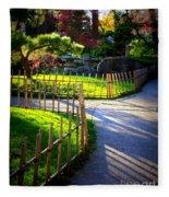 Sunny Garden Path Fleece Blanket