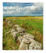 Sunny Meadow Sheep Fleece Blanket