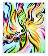 Sunny Morning. Abstract Vision Fleece Blanket