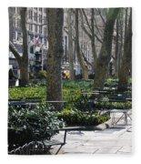Sunny Morning In The Park Fleece Blanket