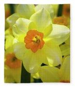 Sunny Narcissus Fleece Blanket