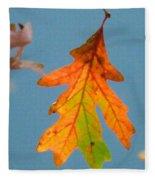Sunny Oak Leaf Fleece Blanket