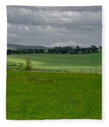 Sunny Patches On The Field. Fleece Blanket