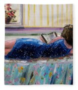 Sunny Reading Fleece Blanket