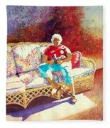 Sunny Retreat 3 Fleece Blanket