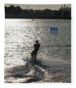 Sunny Ski Fleece Blanket