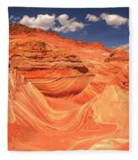 Sunny Skies At The Wave Fleece Blanket