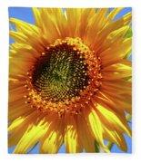 Sunny Sunflower Fleece Blanket