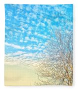 Sunny Tree Fleece Blanket