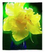 Sunny Tulip In Vase. Fleece Blanket