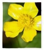 Sunny Yellow Cinquefoil Fleece Blanket