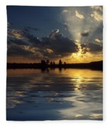 Sunray Sunset Fleece Blanket