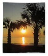 Sunrise And Palms Fleece Blanket