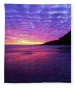 Sunrise At Bray Head, Co Wicklow Fleece Blanket