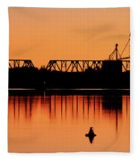 Sunrise At Burbank Fleece Blanket