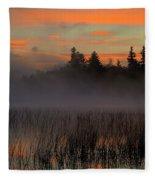 Sunrise At Connery Pond 1 Fleece Blanket