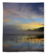 Sunrise At Connery Pond 3 Fleece Blanket