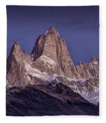 Sunrise At Fitz Roy Patagonia 8 Fleece Blanket