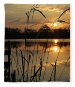 Sunrise At Grayton Beach Fleece Blanket