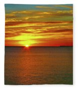 Sunrise At Matane Fleece Blanket