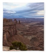 Sunrise At Mesa Arch - Canyonlands National Park - Moab Utah Fleece Blanket