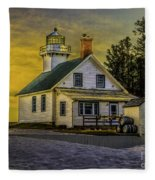 Sunrise At Mission Point Light Fleece Blanket