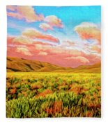 Sunrise At Montana De Oro Fleece Blanket