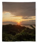 Sunrise At Montauk Point State Park Fleece Blanket