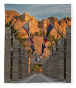 Sunrise At Mount Rushmore Promenade Fleece Blanket