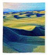 Sunrise At Oceano Sand Dunes  Fleece Blanket