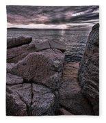 Sunrise At Otter Cliffs #5 Fleece Blanket