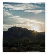 Sunrise At Sabino Canyon Fleece Blanket