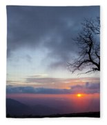 Sunrise At Saddle Overlook Fleece Blanket