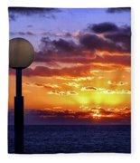Sunrise At Sea Off The Delmarva Coast Fleece Blanket