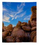 Sunrise At Skull Rock Fleece Blanket