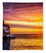 Sunrise At The Arch Fleece Blanket