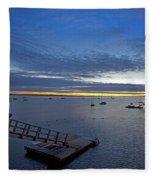 Sunrise At The Barnstable Yacht Club Fleece Blanket