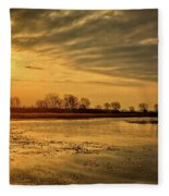 Sunrise At The Big Marsh Fleece Blanket